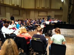 First St. Louis Symphony Chorus rehearsal, Season 2014-15
