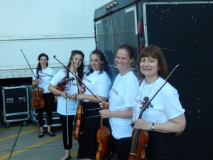 Ferguson strings wait to go on stage