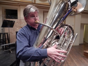 Mike Sanders shows what a tubist needs to do to be heard in 1812 Overture.