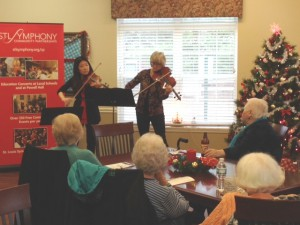 Xiaoxiao Qiang and Katy Mattis perform at Canterbury Park