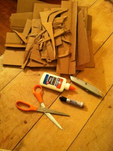 The aftermath of fork-making looks like Louise Nevelson's studio.