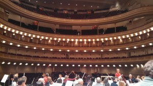 A chorus-eye view of Carnegie Hall.