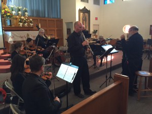 "Phil Ross and company rehearse ""The Bartholomew Concerto."""