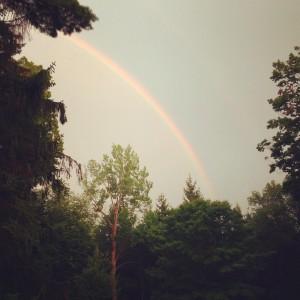 One last rainbow near Tanglewood