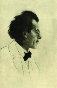 Gustav Mahler by Emil Orlik, 1902