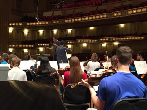 St. Louis Symphony Youth Orchestra rehearsal, Steven Jarvi conductor, Aidan Ip, soloist, at Powell Hall