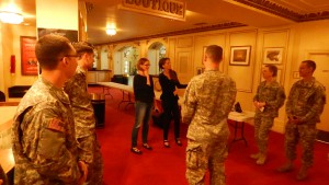 STL Symphony flutist Jennifer Nitchman meets members of 399th.