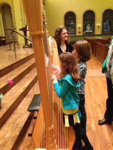 Principal Harp Allegra Lilly gives a tour of the strings.