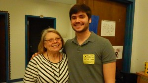 Michael Gandlmayr and his first violin teacher, Darlene Lanser @ Kellison Elementary