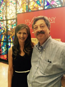Maureen Byrne and Gary Godwin. Godwin's Silk Foundation helps support community programs concerts.