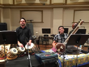 Javad and Arjun on the Powell Hall stage