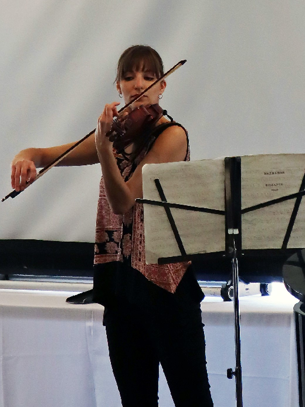 Erin Schreiber Playing Violin at Winter Brunch