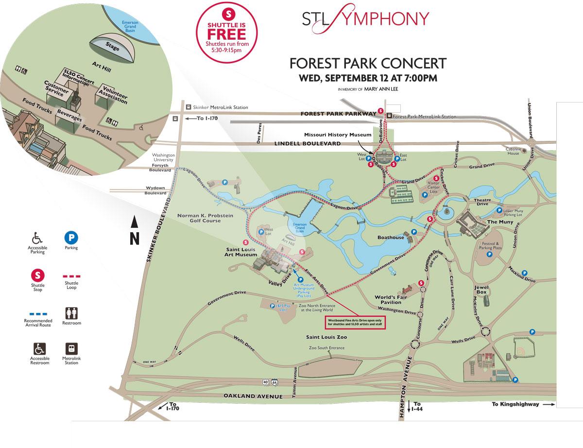 Forest Park SLSO Concert Map